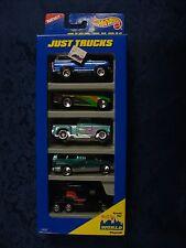 Hot Wheels - Just Trucks - 5 Car Gift Pack (Black Rig & Green Ford) * Mattel *