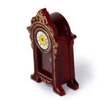1/12 Puppenhaus Miniatur Holz Klassische Tischuhr Y6Q9
