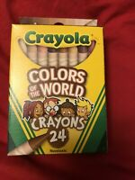 1 Box Crayola Crayons MULTICULTURAL 24 Pack -Colors of The World - NEW