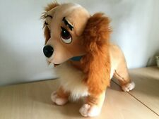 VINTAGE DISNEYLAND WALT DISNEY WORLD LARGE LADY AND THE TRAMP PLUSH RARE