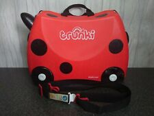 Trunki Ladybird Ride-on Kids Suitcase Red With Key and Straps