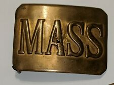 VINTAGE MASS STATE OF MASSACHUSETTS BELT BUCKLE