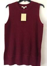 MICHAEL Michael Kors Sleeveless Hi-Hem Metallic Rubbed Knit Sweater. Size XL.