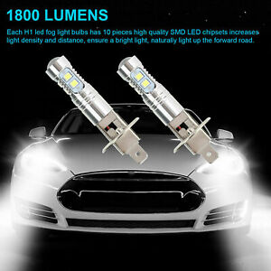 USA 4PCS H1 220W  LED Headlight Bulbs Kit Fog Driving Light 6000K Super White