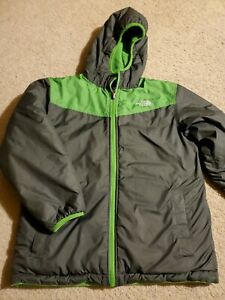 The North Face Boy's Gray/Green Reversible Jacket Size S (age 8-10)