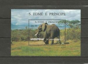 "SAO TOME AND PRINCIPE -  1996 The 25th Anniversary of ""Greenpeace""  MIN. SHEET."