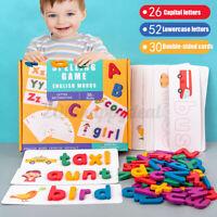 Enfants 26 Anglais Mot Orthographe Lettre Bébé Apprentissage Bois Jouet Jeu W/