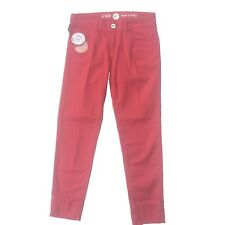 Nfy Notify Capri Pants Cropped Trousers Jeans Size 24 Coral £175 Italian