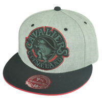 NBA Mitchell Ness Cleveland Cavaliers TV28 XL Logo Heather Fitted Hat Cap