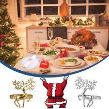 4 pcs Christmas Napkin Holder Alloy Deer Napkin Ring for Bar Restaurant
