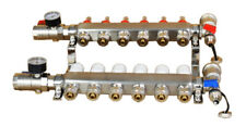 6 Branch Pex Radiant Floor Heating Manifold Set Geothermal Water Divider