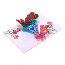 Greeting Card 3D Pop Up Birthday Colorful Rose Anniversary Love Valentine BL3