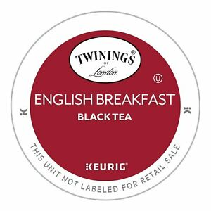Twinings English Breakfast Black Tea 24 to 144 Count Keurig Kcups Pick Any Size