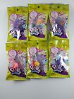 Lot of 6 Polly Pocket Tiny Takeaway Ring Necklace Set New Boy Girl Toys