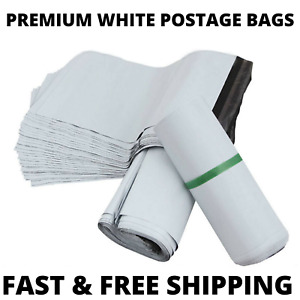 Premium WHITE Strong Quality Plastic Mailing Postage Bags Poly Post Mail Postage