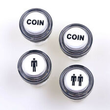 4Pcs Led Arcade Game Start Push Button Kit Part 1 Player+2 Player+Coin Buttons