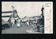 Africa SIERRA LEONE Freetown Kroo town Road  PPC used 1919 local pub Lisk-Carew