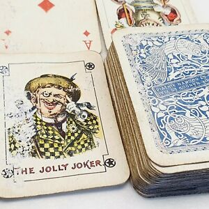 Piatnik playing card 54 cards deck vintage antique 1930's Hungary w tax stamp