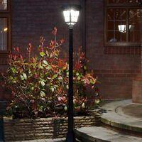 6ft Solar Power Outdoor Security LED Lamp Post | PIR Motion Sensor Aluminium