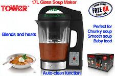 Torre De Cristal Soup Maker 1,6 L Licuadora Grueso Suave Bebé Simmer alimentos puré De Cocina