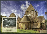Alderney Churches Stamps 2020 MNH St Anne's Church Bells Architecture 1v M/S