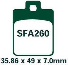 EBC Bremsbeläge SFA260 VORNE PIAGGIO MP3 250 EFI 06-08