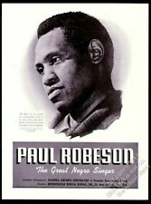 1941 Paul Robeson photo Usa concert tour trade booking ad