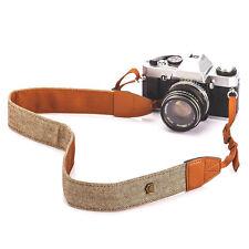 Vintage White Brown Weave Camera Shoulder Neck Strap Fujifilm X-T2 X-T1 X-T20