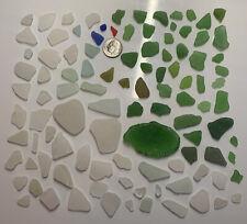104 Genuine Beach Sea Glass ~ Surf Tumbled ~ Mixed Colors ~ Ny ~ Mosaics/Art