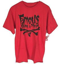 FAMOUS STARS & STRAPS SHIRT NEW Medium Shirt Crossbones Red RARE NOS NWT