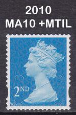 2010 Machin 2nd Class Blue SG U3013 MA10+MTIL Walsall CB Very Fine Used Stamp