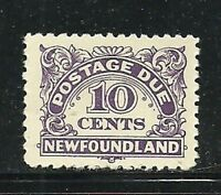 Album Treasures Newfoundland Scott # J6  6c Postage Due Mint Hinged