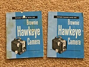 (2) KODAK BROWNIE HAWKEYE Camera Manuals