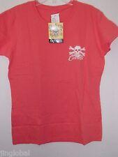 Calcutta Womens Coral Short Sleeve T-Shirt with White Logo, Size Medium