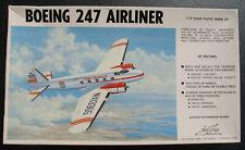 WILLIAMS BROS 72-247 - Boeing 247 Airliner - 1:72 - Flugzeug Modellbausatz Kit