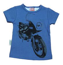 Sooki Baby Boys Blue White Round Neck Short Sleeve Motorbike T Shirt Top Tee 000