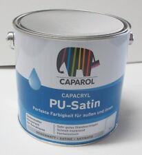 750 ml Caparol Capacryl PU Satin Weiss Seidenmattlack Lack