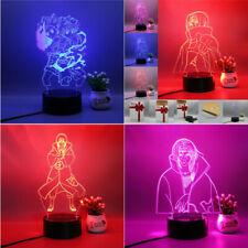 Naruto Uchiha Itach 3D LED Decor 3 colors Chang Night Light Table Lamp With Plug