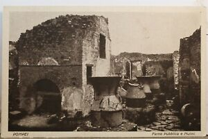 Italy Pompei Forno Pubblico Mulini Postcard Old Vintage Card View Standard Post