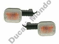 Clear indicators pair for Aprilia Cagiva Ducati turn signal winker front or rear