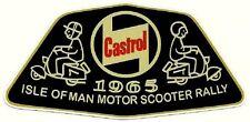 ISLE OF MAN MOTOR SCOOTER RALLY 1965 Vinyl Decal Sticker VESPA LAMBRETTA CASTROL