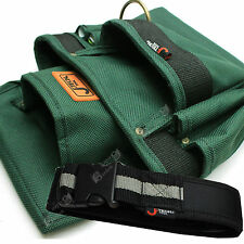 Set Work Belt + Jetech Seven Pockets Nylon Carpenters Tool Pouch (BA-M3)