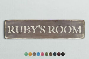 RUBY'S ROOM Vintage Style Wooden Sign. Shabby Chic Retro Home Gift