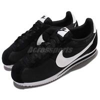 Nike Classic Cortez Nylon Black White Men Shoes Lifestyle Sneakers 807472-011
