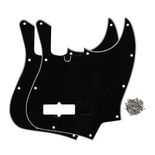 Set of 3Ply Black Color 4-String Fender Jazz Bass Pickguard 10Holes with Screws