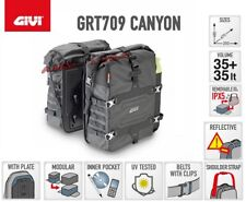 Pair Side Panniers Givi GRT709 Canyon Universal Motorcycle 35+ 35 Lt
