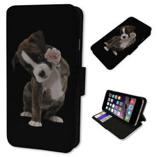 Boxer Dog Puppy Black - Flip Phone Case Wallet Cover Fits Iphone 5 6 7 8 X 11