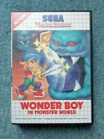 Sega Master System WONDER BOY IN MONSTER WORLD Video Game