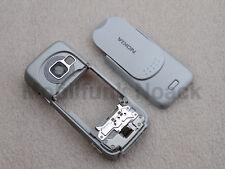 Original Nokia N73 B - Cover | Mittelcover | Akkudeckel Light Touch Grau NEU
