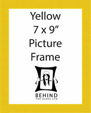 Handmade Yellow Wooden Picture Frame - 7 x 9''